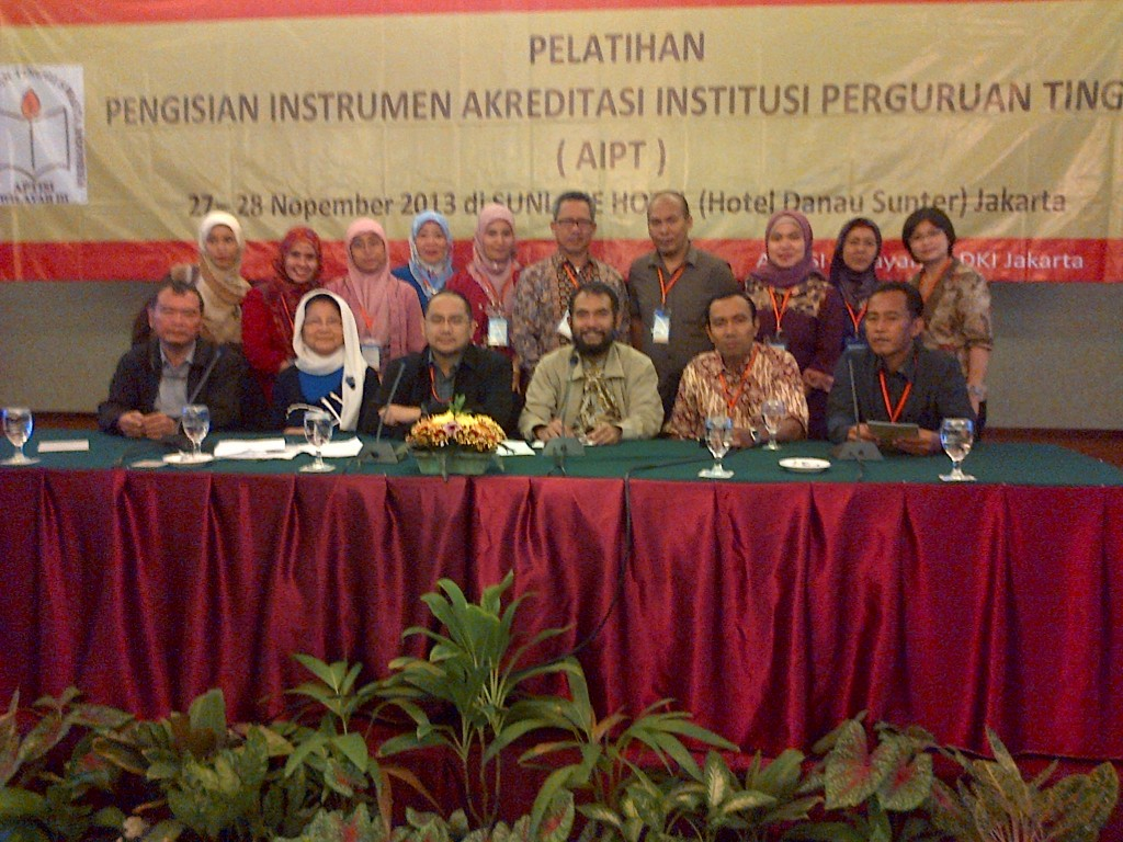 Pelatihan Akreditasi Institusi APTISI WILAYAH III-DKI JAKARTA