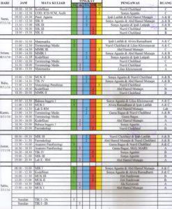 Jadwal Ujian Tengah Semester (UTS) Semester Ganjil 2016-2017