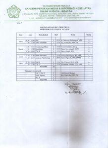 Jadwal Kuliah Semester Genap Tahun Ajaran 2017-2018